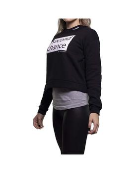 Sudadera Rompiente Crop Second Chance Mujer