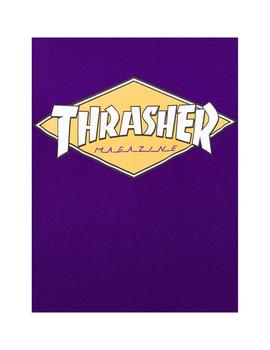 Camiseta Thrasher Diamond Logo S/S Purple Hombre