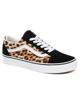 Zapatillas Vans Old Skool Leopard Black/True White