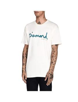CAMISETA DIAMOND SHORT SLEEVE CREMA HOMBRE