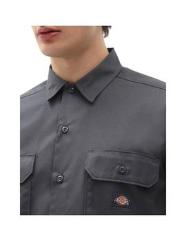Camisa Dickies Sleeve Work Charcoal Grey