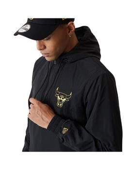 Chaqueta New Era Metalic Windbreaker Chicago Bulls Hombre