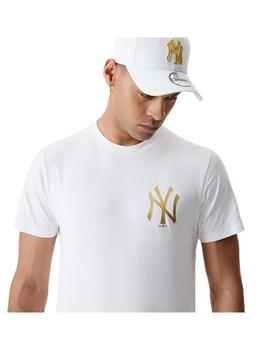 Camiseta New Era Metallic New York Yankees White Hombre