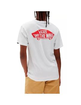 Camiseta Vans Otw Classic White/High Risk Red Hombre