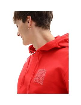 Sudadera Vans New Varsity Po High Risk Red Hombre
