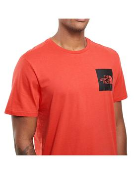 Camiseta The North Face S/S Fine Horizon Red Hombre