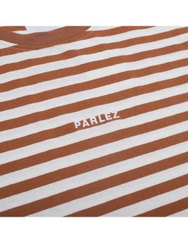 Camiseta Parlez Ladsun Heavy Stripe T-Shirt Brown Hombre