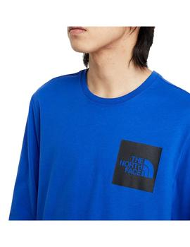 Camiseta The North Face L/S Fine Tnf Blue Hombre