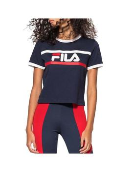 Camiseta Fila Ashley Croped Azul Mujer
