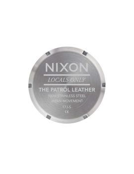 RELOJ NIXON PATROL LEATHER MARRON/AZUL UNISEX