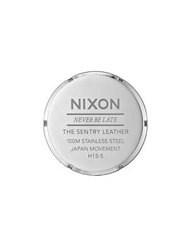 Reloj Nixon Sentry Leather Marron/Verde Unisex