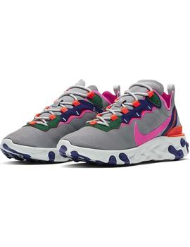 Zapatillas Nike React Element 55 Gris Mujer