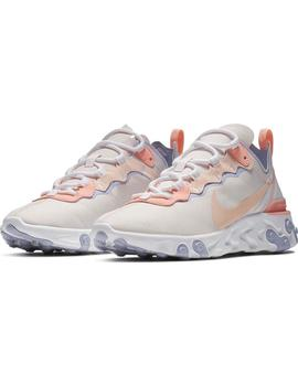 Zapatillas Nike React Element 55 Rosa Mujer