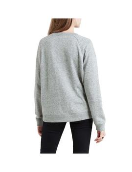 Sudadera Levis Relaxed Graphic Peanuts Gris Mujer