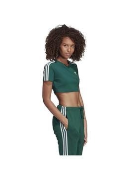 CAMISETA ADIDAS CROPPED TEE VERDE UNIVER MUJER