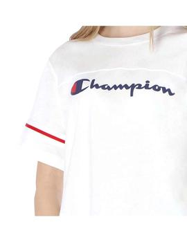 Camiseta Champion Crewneck Crop Top Blanco Mujer