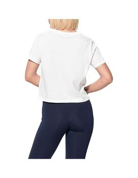 Camiseta Fila Early Croped  Blanco Mujer