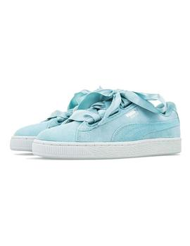 ZAPATILLAS PUMA SUEDE HEART PEPPLE BLUE