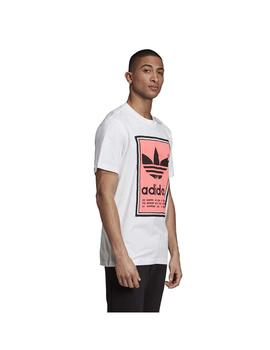 Camiseta Adidas Filled Label Wht/Flared